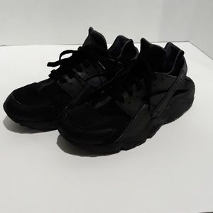 Nike Air Huarache Black Reflective Running Shoes